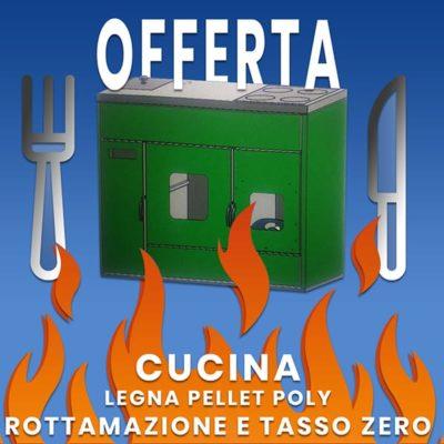 Offerta Cucina Legna Pellet Poly Personalizzata